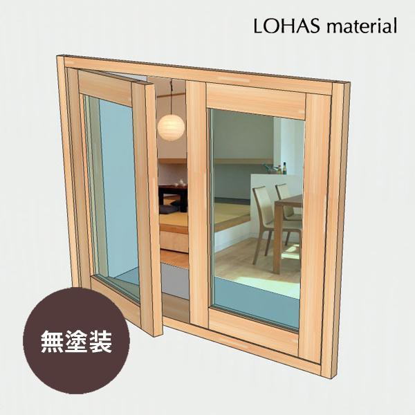 LOHAS material 室内 窓 通風 木製 ガラス インテリア 壁面 採光 部屋  自然素材 おしゃれ 無垢 インテリアウィンドウ 観音窓 パイン 特別色塗装 W770×H600mm