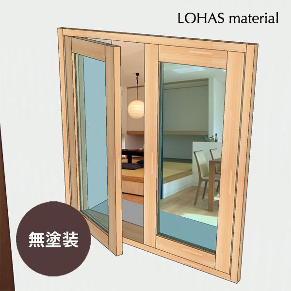 LOHAS material 室内 窓 通風 木製 ガラス インテリア 壁面 採光 部屋  自然素材 おしゃれ 無垢 インテリアウィンドウ 観音窓 パイン 特別色塗装 W770×H800mm