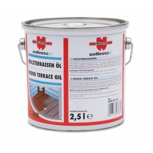 WURTH ウルト塗料 ウッドテラス用オイル チーク 2.5L [型番:0890997301]