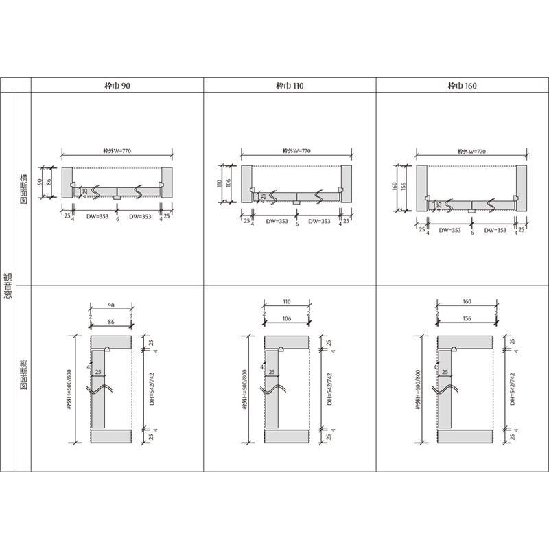 LOHAS material 室内通風窓 インテリアウィンドウ 特注仕様 観音窓 中框デザイン パイン ホワイト W770×H800mm 丸棒調製器付き|ok-depot|07