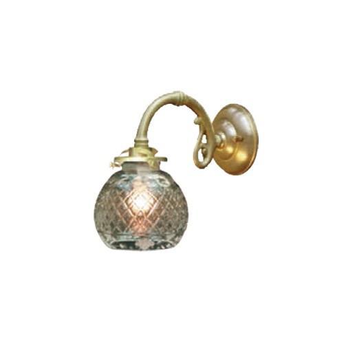照明器具 サンヨウ アンティーク調 屋内 リビング 廊下 廊下 シェード ランプ 真鍮 灯具 ウォールランプ FC-W1634G 091 送料無料