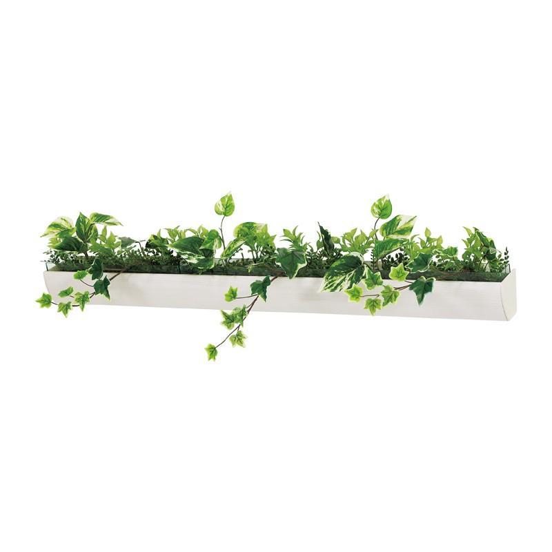ベルク インテリアパネル グリーンポット デザインポット カップ付き GR4049 室内 壁 インテリア おしゃれ 送料無料 緑 植物 緑 植物