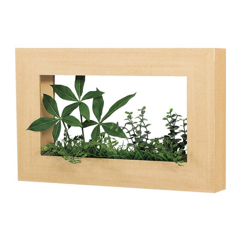 ベルク インテリアパネル グリーンポット デザインポット GR4023 室内 壁 インテリア おしゃれ 送料無料 緑 植物