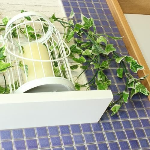 DIY TILE モザイクタイル ピンキー パープル ふつうのシール 10シート