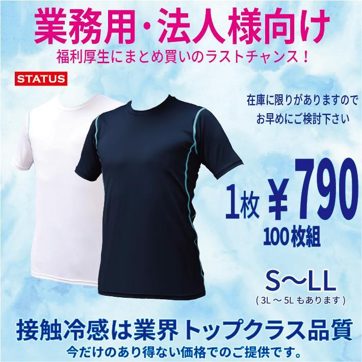 冷感Tシャツ 100枚組 法人向け 団体向け 業務用 冷感下着 冷感ウエア 接触冷感Tシャツ コンプレッションシャツ 加圧シャツ 熱中症対策 インナー 吸汗 速乾