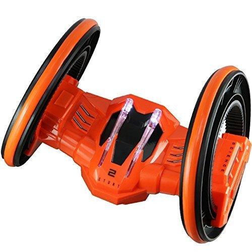 ラジコン 二輪型 アクロバット走行 360°スピン 『2ROUND STUNT』(OA-685R) オレンジ