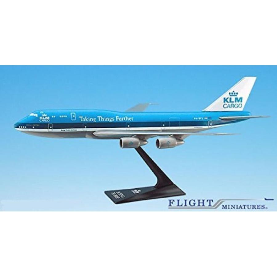 おもちゃミニチュア 模型 KLM Cargo (73-03) 747-300 Airplane Miniature Model Plastic Snap Fit 1:250 Part# ABO-74730I-006 正規輸入品