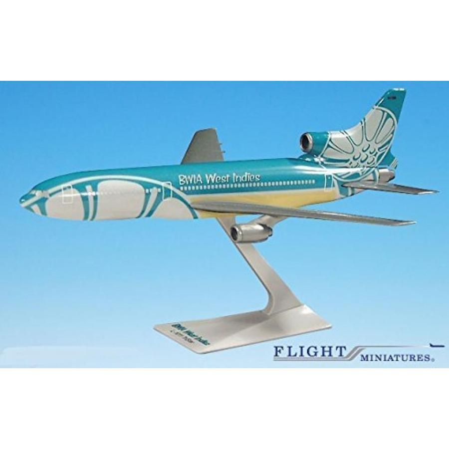 おもちゃミニチュア 模型 BWIA West Indies Lockheed L-1011 Airplane Miniature Model Plastic Snap Fit 1:250 Part# ALK-10110I-022 正規輸入品