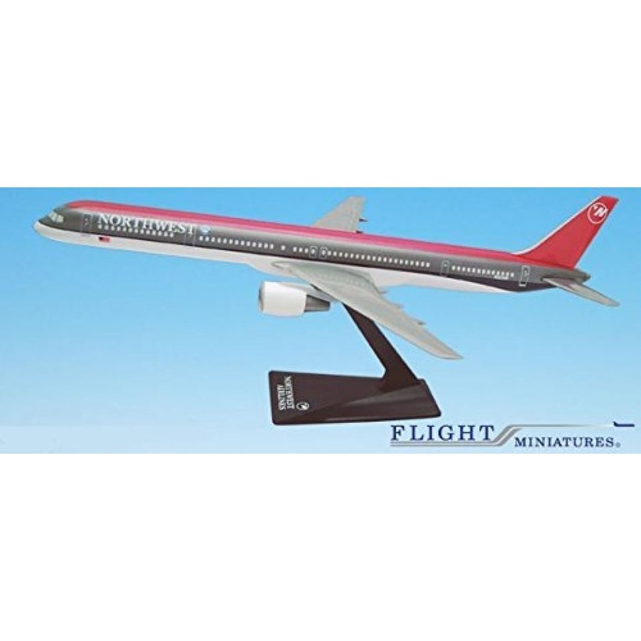 おもちゃミニチュア 模型 Northwest (89-03) Boeing 757-300 Airplane Miniature Model Plastic Snap Fit 1:200 Part# ABO-75730H-004 正規輸入品