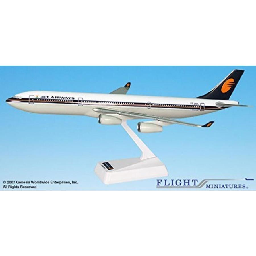 おもちゃミニチュア 模型 Jet Airways (93-Cur) Airbus A340-300 Airplane Miniature Model Plastic Snap Fit 1:200 Part# AAB-34030H-022 正規輸入品