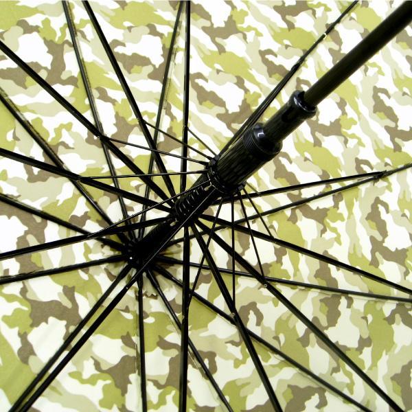 傘 メンズ 迷彩柄 丈夫 65cm 12本骨グラスファイバー ジャンプ傘 送料無用|okamoto-kasa|06