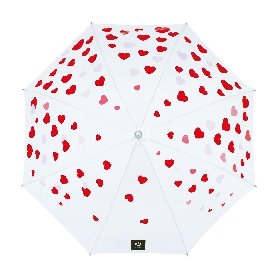 傘 子供用 かわいい ハート柄 50cm ビニール傘 ジャンプ傘 グラスファイバー骨 強い 丈夫 送料無料 無料包装 無料誕生日メッセージカード付|okamoto-kasa|05