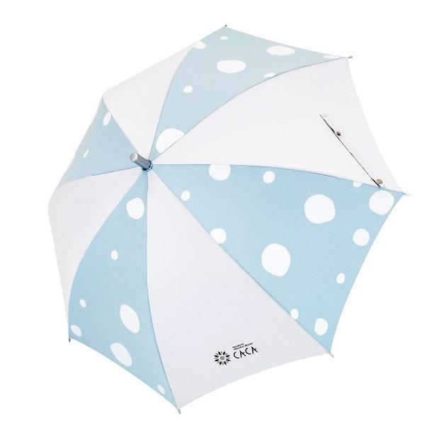 日傘 子供用 遮光率99% 遮熱 涼しい UVカット 晴雨兼用傘 撥水効果 水玉柄 55cm ジャンプ傘 送料無料 無料包装 無料誕生日メッセージカード付 okamoto-kasa 08