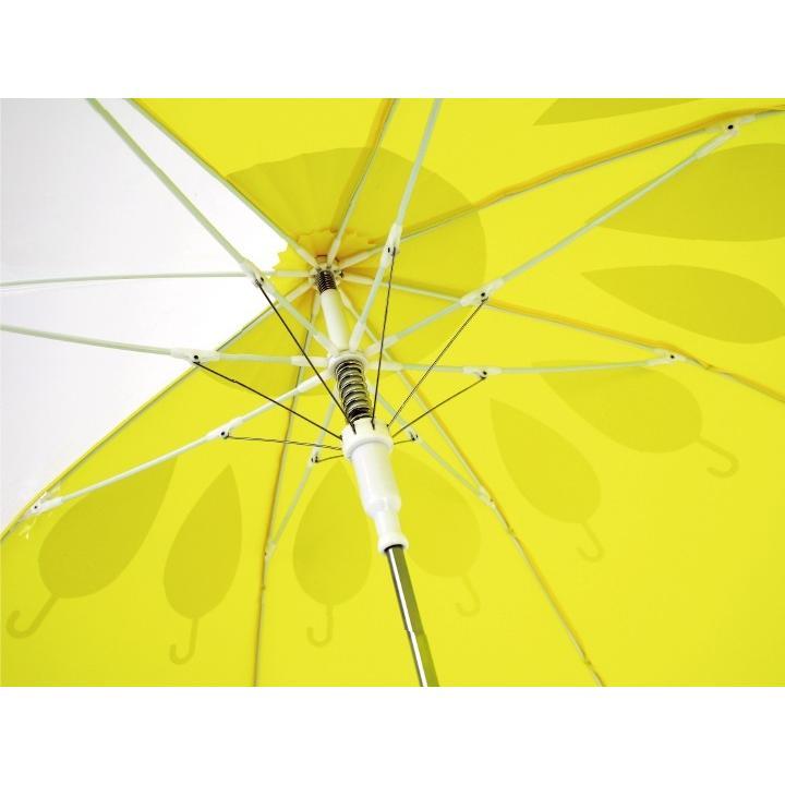 傘 子供用 花柄 周囲が見やすく安全性の高いビニール2駒窓付き 55cm ジャンプ傘 グラスファイバー骨 強い 丈夫 送料無料 無料包装 無料誕生日メッセージカード付|okamoto-kasa|11