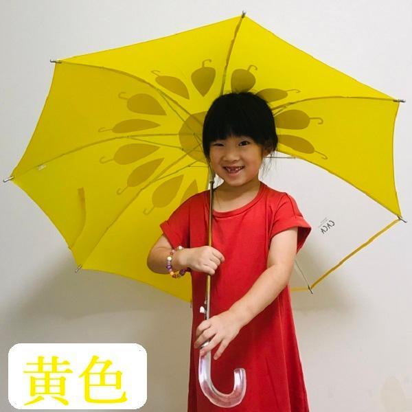 傘 子供用 花柄 周囲が見やすく安全性の高いビニール2駒窓付き 55cm ジャンプ傘 グラスファイバー骨 強い 丈夫 送料無料 無料包装 無料誕生日メッセージカード付|okamoto-kasa|08