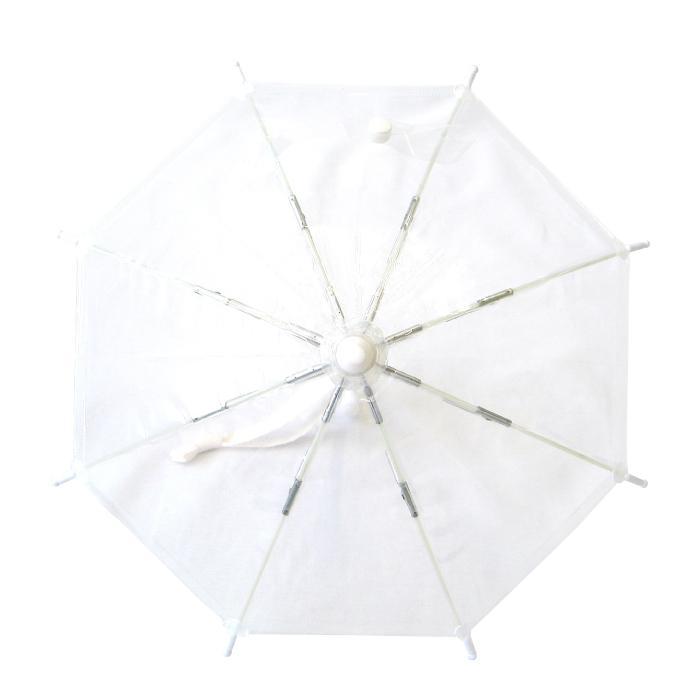 ビニール傘 ミニチュア傘 送料無料 オリジナル作品作成可能 無地透明 5本セット|okamoto-kasa|02