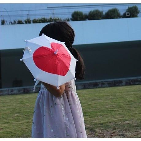 傘 かわいい ハート柄 ミニチュアタイプ ハロウィン 結婚式 イベント用 ごっこ遊び用 お人形用 ディスプレイ用 アクセサリー用 送料無料|okamoto-kasa
