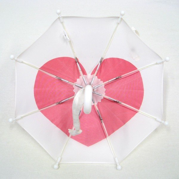 傘 かわいい ハート柄 ミニチュアタイプ ハロウィン 結婚式 イベント用 ごっこ遊び用 お人形用 ディスプレイ用 アクセサリー用 送料無料 3本セット okamoto-kasa 07