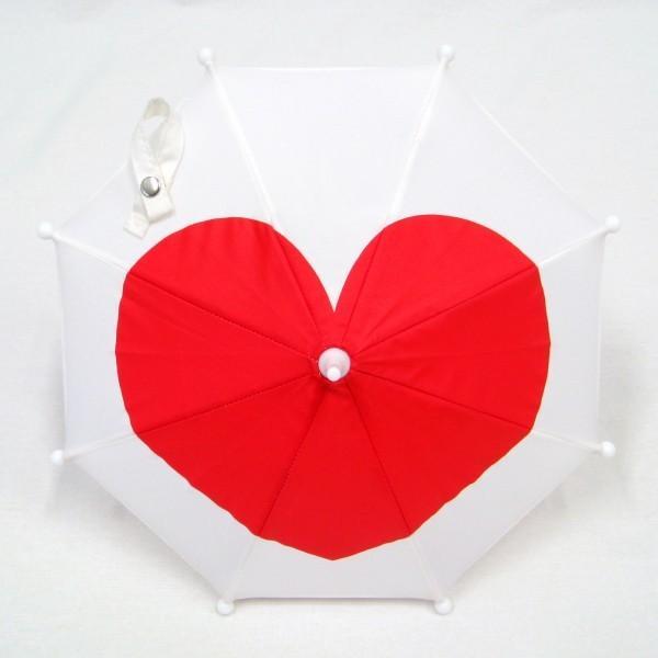 傘 かわいい ハート柄 ミニチュアタイプ ハロウィン 結婚式 イベント用 ごっこ遊び用 お人形用 ディスプレイ用 アクセサリー用 送料無料 3本セット okamoto-kasa 08