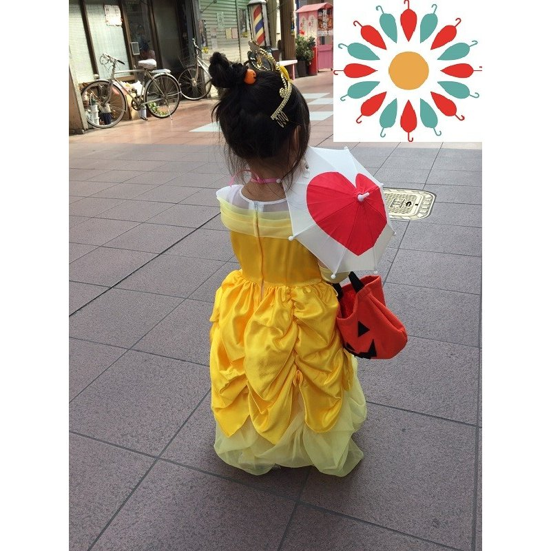 傘 かわいい ハート柄 ミニチュアタイプ ハロウィン 結婚式 イベント用 ごっこ遊び用 お人形用 ディスプレイ用 アクセサリー用 送料無料 50本セット|okamoto-kasa|03