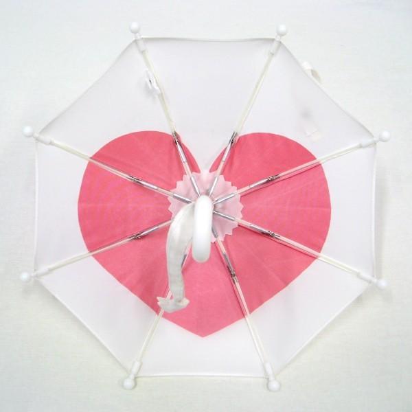 傘 かわいい ハート柄 ミニチュアタイプ ハロウィン 結婚式 イベント用 ごっこ遊び用 お人形用 ディスプレイ用 アクセサリー用 送料無料 5本セット okamoto-kasa 07
