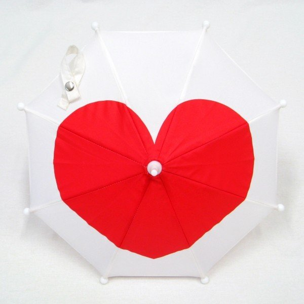 傘 かわいい ハート柄 ミニチュアタイプ ハロウィン 結婚式 イベント用 ごっこ遊び用 お人形用 ディスプレイ用 アクセサリー用 送料無料 5本セット okamoto-kasa 08