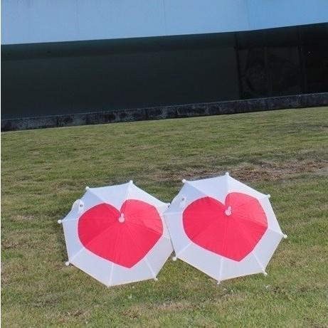 傘 かわいい ハート柄 ミニチュアタイプ ハロウィン 結婚式 イベント用 ごっこ遊び用 お人形用 ディスプレイ用 アクセサリー用 送料無料 5本セット okamoto-kasa 10