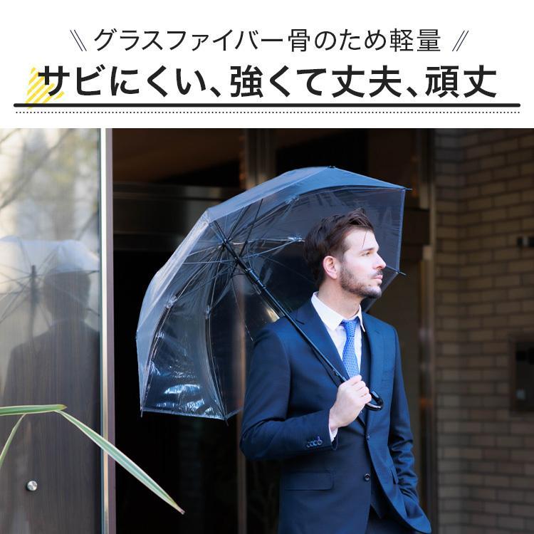 ビニール傘 48本セット 丈夫 60cm ジャンプ傘 白黒2色展開 反り返っても折れにくく風に強いグラスファイバー耐風骨使用 送料無料 okamoto-kasa 03