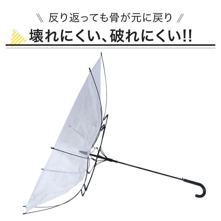 ビニール傘 48本セット 丈夫 60cm ジャンプ傘 白黒2色展開 反り返っても折れにくく風に強いグラスファイバー耐風骨使用 送料無料 okamoto-kasa 05