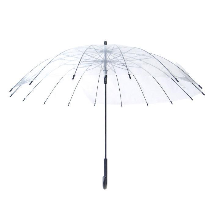 ビニール傘 グラスファイバー16本骨ジャンプ式 65cm 送料無料 6本セット業務用 まとめ買い okamoto-kasa 04