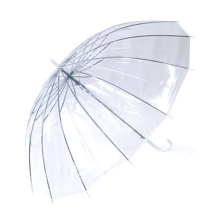ビニール傘 グラスファイバー16本骨ジャンプ式 65cm 送料無料 6本セット業務用 まとめ買い okamoto-kasa 06