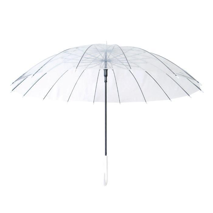ビニール傘 グラスファイバー16本骨ジャンプ式 65cm 送料無料 6本セット業務用 まとめ買い okamoto-kasa 08