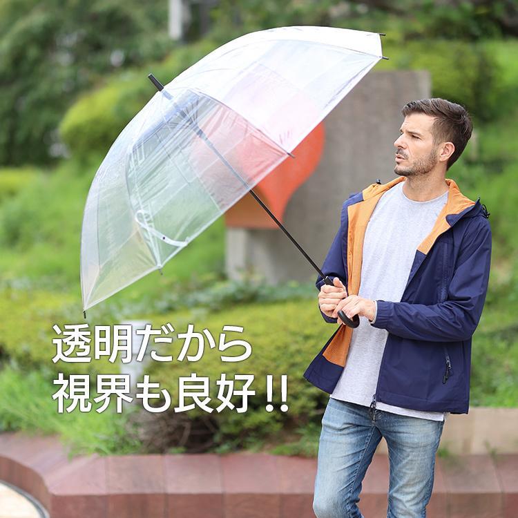ビニール傘 丈夫 大きい傘 超特大 75cm 反り返っても折れにくく風に強いグラスファイバー耐風骨使用 荷物も濡れにくい ジャンプ傘 18本セット 送料無料|okamoto-kasa