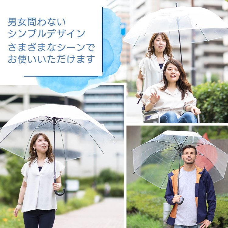 ビニール傘 丈夫 大きい傘 超特大 75cm 反り返っても折れにくく風に強いグラスファイバー耐風骨使用 荷物も濡れにくい ジャンプ傘 36本セット 送料無料|okamoto-kasa