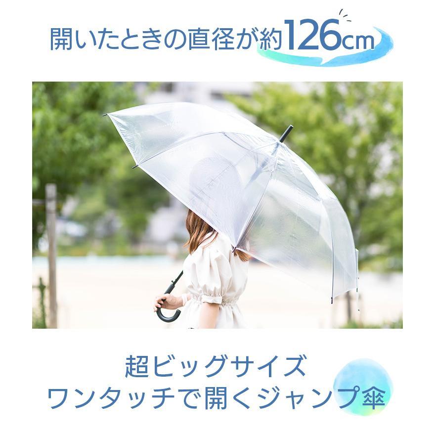 ビニール傘 丈夫 大きい傘 超特大 75cm 反り返っても折れにくく風に強いグラスファイバー耐風骨使用 荷物も濡れにくい ジャンプ傘 36本セット 送料無料|okamoto-kasa|02