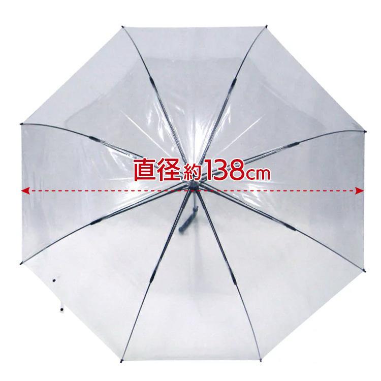 ポイント10倍 ビニール傘 丈夫 大きい傘 車椅子にも役立つ 超超特大 80cm 反り返っても折れにくく風に強い 耐風骨使用 荷物も濡れにくい ジャンプ傘 送料無料 okamoto-kasa 14