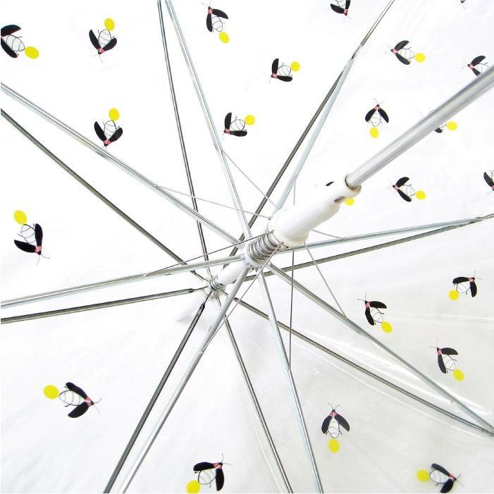 ビニール傘 かわいい ホタル総柄 60cm ジャンプ傘 送料無料|okamoto-kasa|04