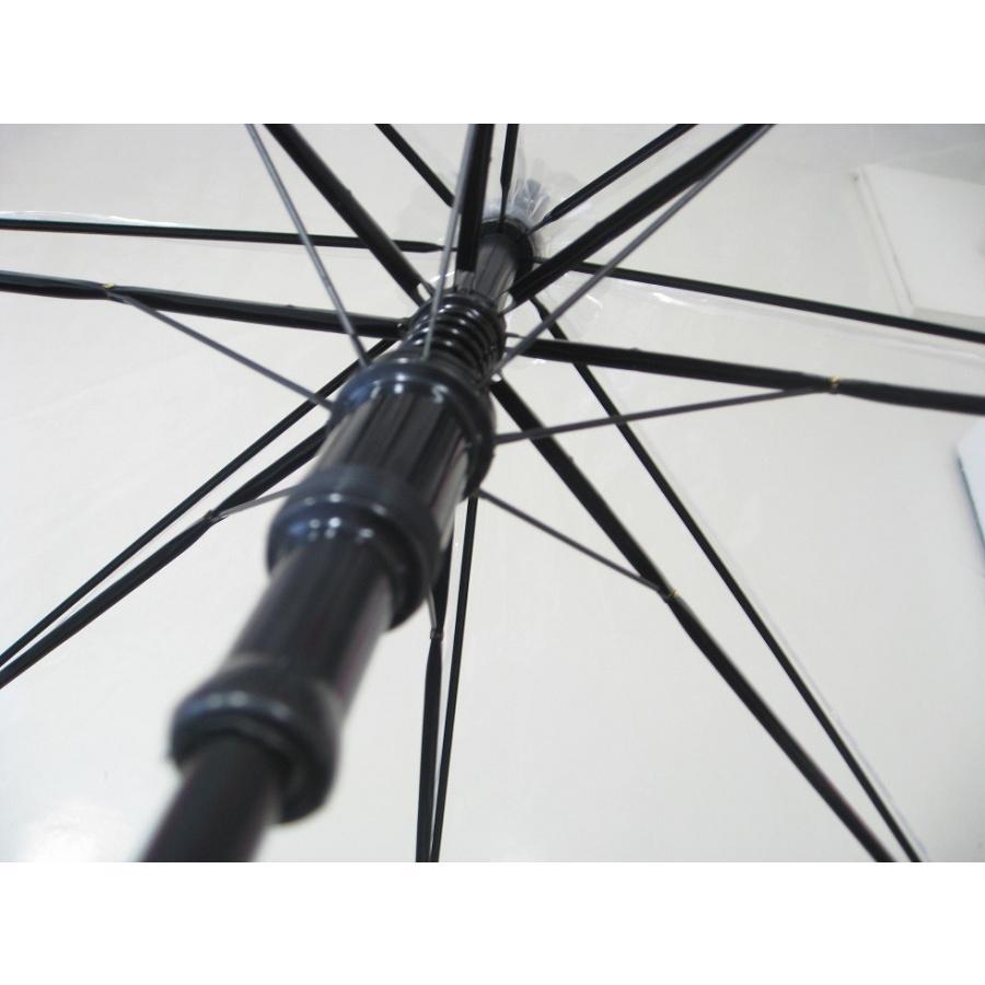 ビニール傘 ジャンプ 65cm 送料無料 業務用 まとめ買い 6本セット 透明高品質POE業務用大きめなので荷物も濡れにくい|okamoto-kasa|02