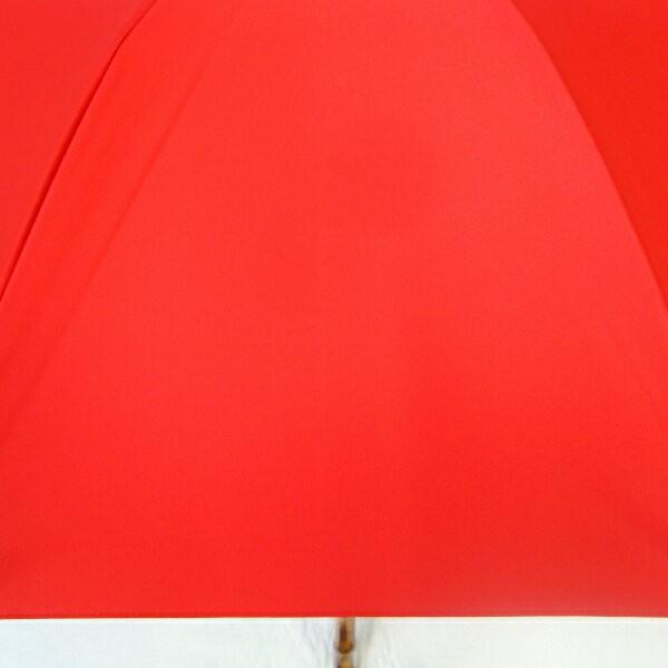 日傘 レディース 晴雨兼用傘 国産生地 真赤な無地柄 遮光率 UVカット 99%以上 50cm 竹手元 手開き傘  送料無料|okamoto-kasa|05