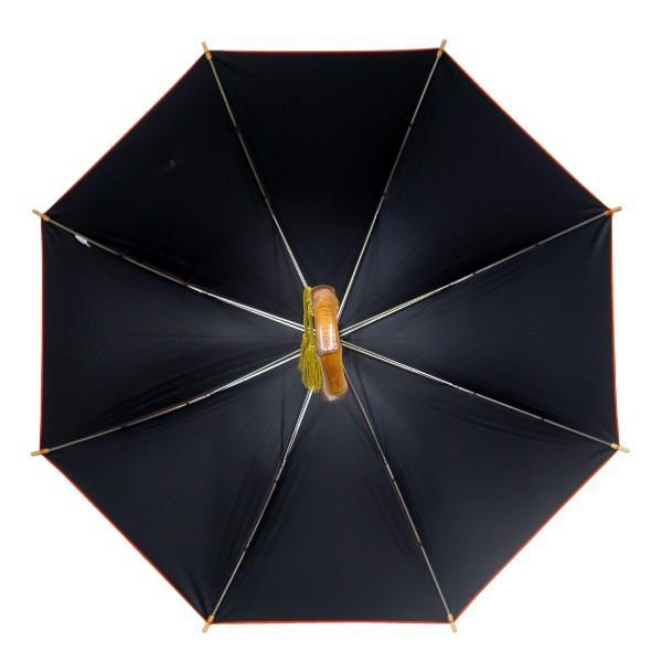 日傘 レディース 晴雨兼用傘 国産生地 真赤な無地柄 遮光率 UVカット 99%以上 50cm 竹手元 手開き傘  送料無料|okamoto-kasa|09