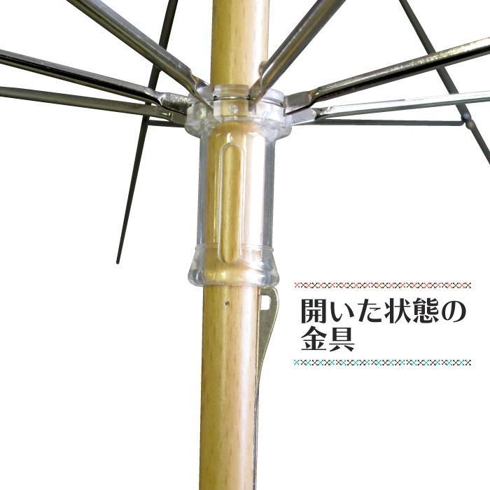 手芸用品 竹手元 オリジナル傘を作れる 手作り日傘キット50cmサイズ 単品 送料無料  okamoto-kasa 04