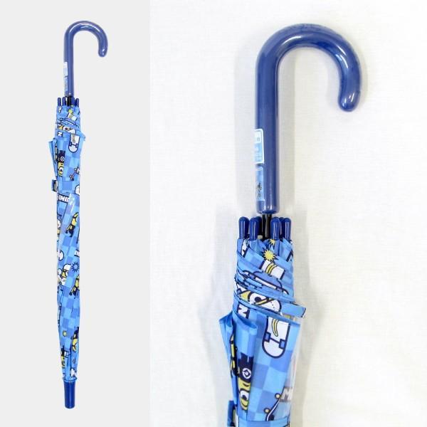 傘 キッズ 人気キャラクター ミニオン 50cm ジャンプ傘 適応身長:110〜125cm okamoto-kasa 06