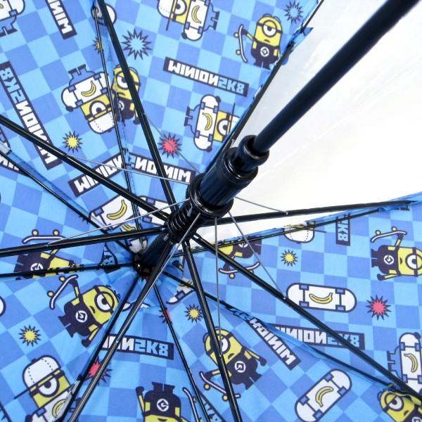傘 キッズ 人気キャラクター ミニオン 50cm ジャンプ傘 適応身長:110〜125cm okamoto-kasa 08