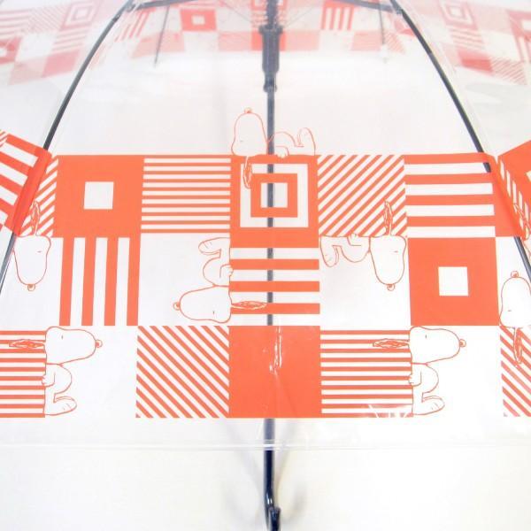 傘 レディース スヌーピー ビニール傘 キューブ柄 59cmジャンプ傘 送料無料|okamoto-kasa|03