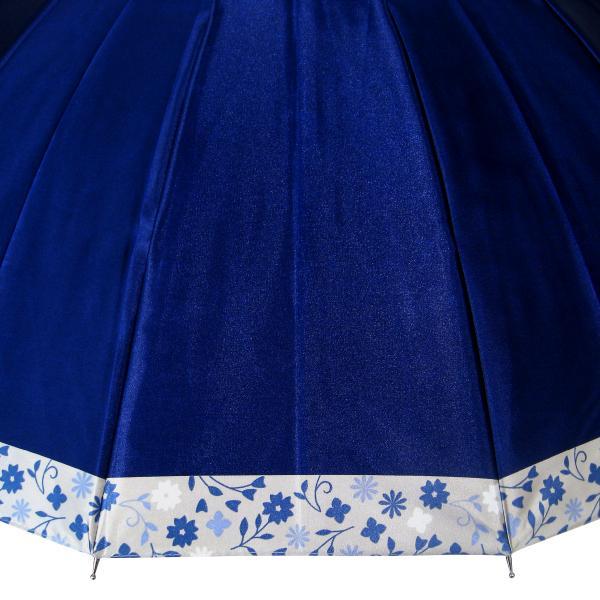 傘 レディース 高級感のあるサテン地 裾花柄 16本骨 60cm ジャンプ傘 無料包装 母の日 誕生日カード付 送料無料 okamoto-kasa 10
