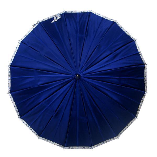 傘 レディース 高級感のあるサテン地 裾花柄 16本骨 60cm ジャンプ傘 無料包装 母の日 誕生日カード付 送料無料 okamoto-kasa 13