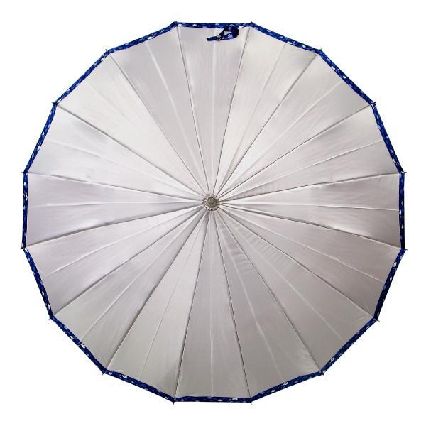 傘 レディース 高級感のあるサテン地 裾花柄 16本骨 60cm ジャンプ傘 無料包装 母の日 誕生日カード付 送料無料 okamoto-kasa 17