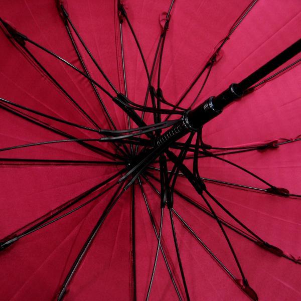 傘 レディース 高級感のあるサテン地 裾花柄 16本骨 60cm ジャンプ傘 無料包装 母の日 誕生日カード付 送料無料 okamoto-kasa 08