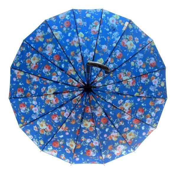 アルファベットで名入可能 傘 レディース 高級感のあるサテン生地に花柄プリント 16本骨 60cm ジャンプ傘 無料包装 母の日 誕生日カード付 送料無料 okamoto-kasa 13