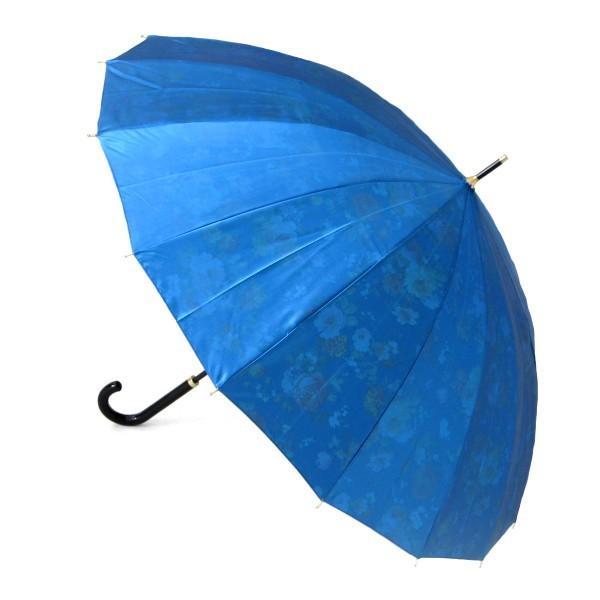アルファベットで名入可能 傘 レディース 高級感のあるサテン生地に花柄プリント 16本骨 60cm ジャンプ傘 無料包装 母の日 誕生日カード付 送料無料 okamoto-kasa 14